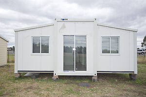TRANSPORTABLE EXPANDA CABIN 36M2 OFFICE/STORAGE OR OUTBUILDING