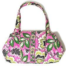 Vera Bradley Priscilla Pink Flower Purse Handbag Satchel