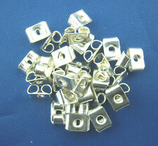 100 Earring Backs Stoppers Ear Nuts Silver Plated 5mm x 4mm J00309A