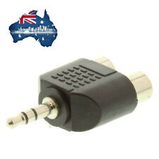 Audio Adapter, RCA / Phono Receptacle x 2, Stereo Plug - 3.5mm