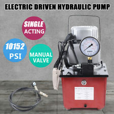 10000PSI Electric Driven Hydraulic Pump Single Acting Manual Valve 110V 63MPa OD