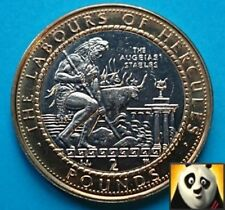 1999 Rare GIBRALTAR £2 Two Pound Labours of Hercules The Augeias Stable Coin