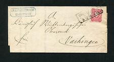 Dt. Reich - Brief aus Carlsruhe nach Vaihingen 1876   (GADDR)