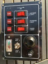 tableau électrique marine 3 interrupteurs VERTICAL avec  jauge batterie 12V