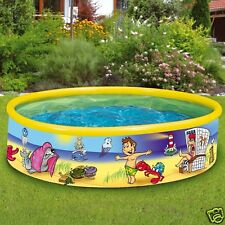 "Wehncke Fix Pool ""Beach Ghost"" 185x40cm Planschbecken Baden Kinderpool 12809"