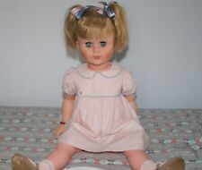"Vintage Lovely Blond 27"" Doll w/ Bright Blue Sleep Eyes-Unbranded, Hard Plastic"