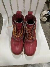 Bean boots LL Bean women's size 8 rubber rain purple fuschia