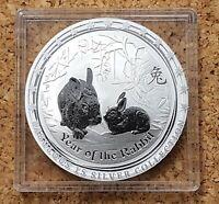 1 Dollar Australien 2011 Lunar II Jahr des Hasen 1 Unze Silber / Top