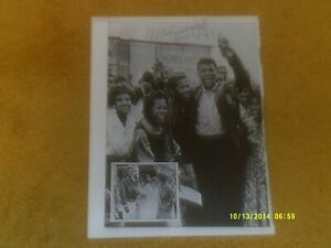 """MUHAMMAD ALI Autographed Page from magazine--he dated it """"June 24--82"""" VG+ shape"""