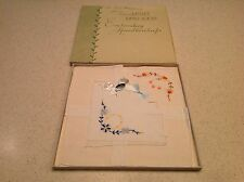 BNIB Irish Linen Ladies Vintage Handkerchiefs From Old Stock Embroidered Floral