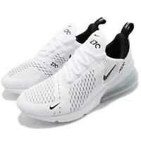Nike Air Max 270 White Black Men Running Casual Fashion Shoes Sneaker AH8050-100