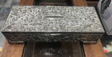 Vintage Godinger Silver Plated Embossed Art Nouveau Footed JEWELRY BOX Rectangle