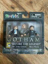 """MiniMates Gotham """"Before the Legend"""" James Gordon & Bruce Wayne 2015 SDCC"""