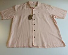 Tommy Bahama Camp Shirt Large Mens Tiki Bay Silk SS Hawaiian Washable
