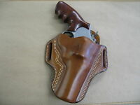 """Smith & Wesson S&W N Frame 4"""" Leather 2 Slot Pancake Belt Holster CCW  TAN RH"""