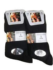 6 Pairs Womens Black Non Elastic Socks