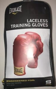 EUC Youth Small EVERLAST Red Laceless Training Gloves