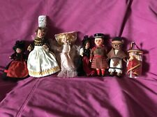 Vintage International World Collectors Rogark Celluloid Ethnic Dolls Set Of 8