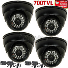 4x Security Camera Outdoor IR LED Night Wide Angle w/ SONY Effio CCD & Power mjO