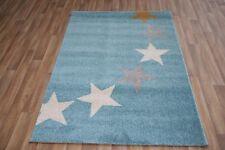 Quality Modern Baby Blue Stars Rug 120cm x 170cm 12mm Star Royal Thick Rug