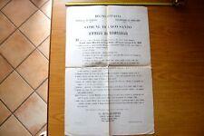 ANTICO MANIFESTO COMUNE LAGO SANTO AVVISO CONCORSO MAESTRO SCUOLA 1873 FERRARA