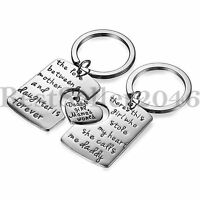 Daddy Mother Daughter 3 Piece Keychain Love Pendant Necklace Set Family Jewelry