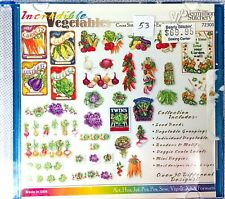 The Vermillion Stitchery Cross Stitch Machine Embroidery Incredible Vegetables