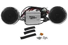 "BOSS MC400 3"" 600W Motorcycle/ATV/UTV/Bike Waterproof Speakers+Amplifier System"