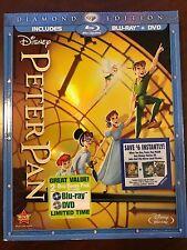 Peter Pan Blu-ray/DVD 2013 2-Disc Set Diamond Edition NEW / SEALED + COVERSLEEVE