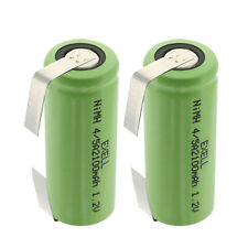 2x 1.2V 4/5A  Rechargeable Batteries w/ Tabs For Solar Lights, Remotes,Telecoms