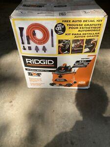 New Open Box RIDGID 14-Gal. 6.0 Peak HP Wet/Dry Vac with Free Auto Detailing Kit