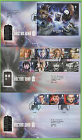 G.B. 2013 Dr Who set & M/S on three First Day Covers, Tallents House