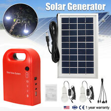 Portable Home Outdoor Lighting Solar Panels Charging Generator Power System UDW