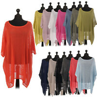 Italian Cotton Mesh Ladies Dress Top Women Lagenlook Drapy Plus Size Shirt 14-30