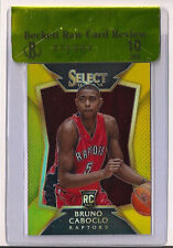 2014-15 Panini Select Prizms Gold Refractor #81 Bruno Caboclo Rookie /10 BGS 10