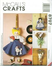 McCalls 8707 BROOM DOLLS Angel Cat Bunny 32-36 inch Sewing Pattern UNCUT FF NEW