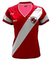 Peru Women Soccer Jersey Design Arza Soccer Color Red 100% Polyester.
