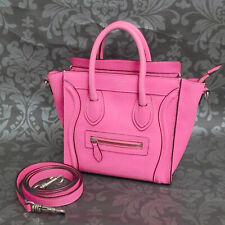 CELINE LUGGAGE Nano shopper Calf Leather Pink Handbag Shoulder Bag #16 Rise-on