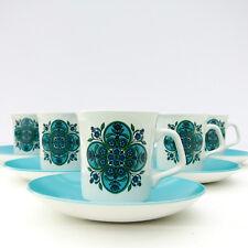 Vintage Retro 1960s 1970s J G Meakin Studio Impact Coffee Tea Set 6 Cups Saucers