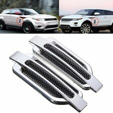 Chrome Car Side Air Vent Intake Flow Fender Cover Hole Grille Sticker Decoration
