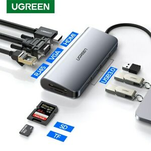 Ugreen Thunderbolt 3 Dock Adapter USB C to 3.0 HUB HDMI Converter Fr MacBook Pro