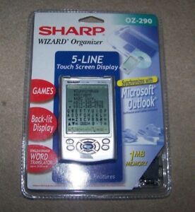 Sharp Wizard Organizer - 1 MB Memory - Model OZ-290 - New in Package