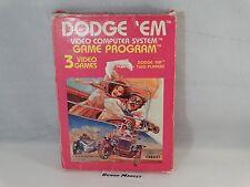 DODGE 'EM - ATARI 2600 VCS e 7800 - VIDEOGIOCO VINTAGE ANNI 80 - BOXATO BOXED
