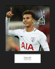 DELE ALLI #2 - TOTTENHAM HOTSPUR Signed 10x8 Mounted Photo Print - FREE DEL