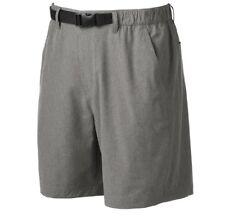 Men 48 Croft & Barrow Belted 100% Nylon Quick Dry Moisture Wicking Gray Shorts