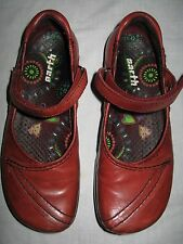 Kalso Earth Shoes Leather Mary Jane Vintage Rust Brown USA Made