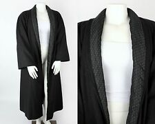 VTG KRIZIA CHARCOAL GRAY OVERSIZED WOOL LONG COAT REMOVABLE QUILTED LINER SZ 40