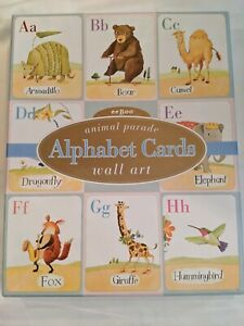 Eeboo 2002 Animal Parade Alphabet Cards Wall Art ABC Art 8x10 26 Cards