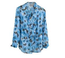 Hüftlange Damenblusen, - tops & -shirts mit Rüschen in Größe 38