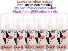 6 x 65ml DEONAT Crystal Roll On Deodorant ( Ideal for Sensitive Skin )  No stain